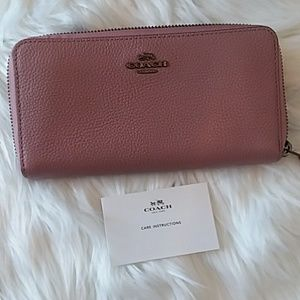 Dusty Rose Coach Wallet, Pending Trade!